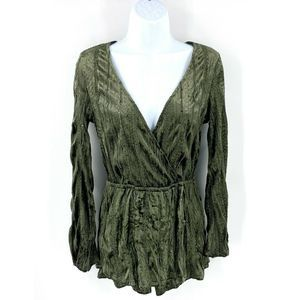 Emory Park One Piece Romper Sz Small Olive Green